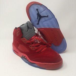 Jordan's Red Suede Sneaker 👟Sz 11